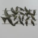 Décor mural oiseaux-réalisation artisanale en métal