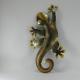 Décor mural salamandre 30cm métal