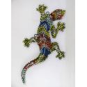 Décor mural salamandre métal 30cm