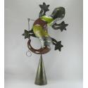 Cloche murale salamandre métal fait-main