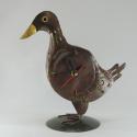 Horloge canard métal artisanale