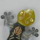 Horloge salamadre métal artisanale