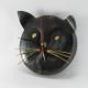 Horloge chat métal artisanale