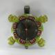 Horloge tortue métal artisanale