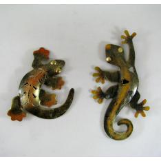 2 Magnets salamandres métal