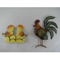 3 Magnets coq-poussins métal