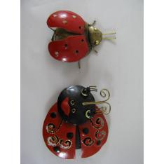 2 Magnets Coccinelles métal