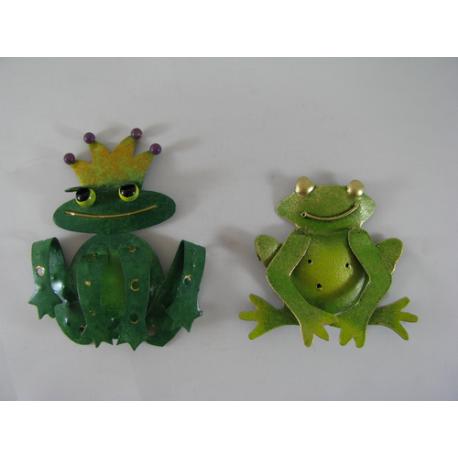 2 Magnets grenouilles métal