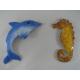 2 Magnets Hypocampe-dauphin métal