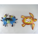 2 Magnets crabe-tortue métal