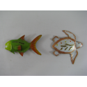 2 Magnets poisson-tortue métal