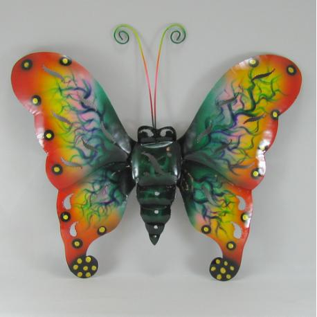 Décor mural papillon métal