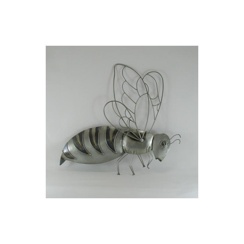 D cor mural abeille r alisation artisanale en fil de fer for Deco mural en fer