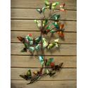 Décor mural nuée de papillon -réalisation artisanale en métal