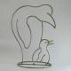 Pingouin métal artisanat jardin maison