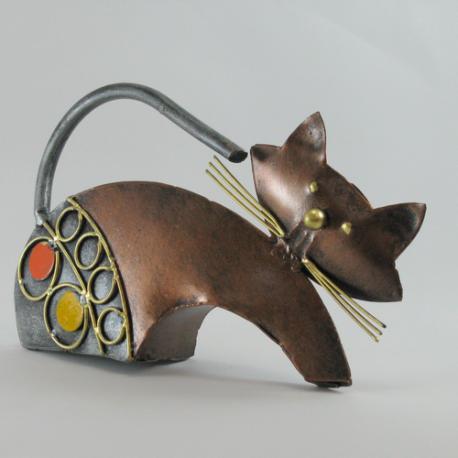 Chat métal artisanat maison