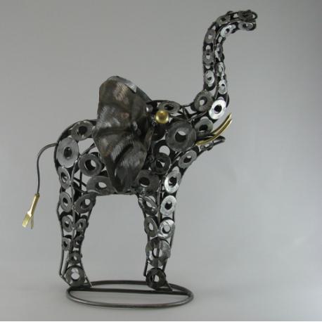 Eléphant métal artisanat jardin maison