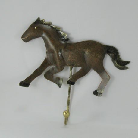 Patère cheval métal