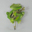 Patère grenouille guitare métal