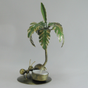 Bougeoir palmier fourmi 20cm métal