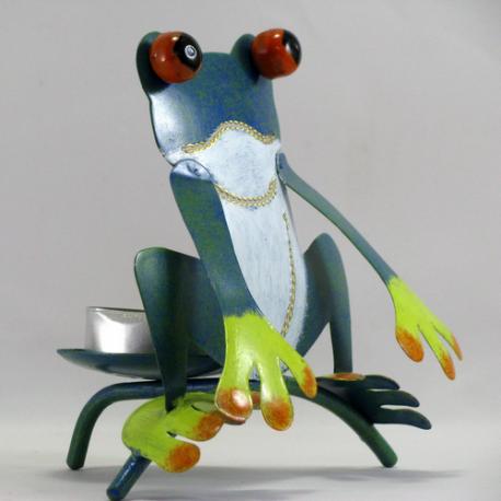 Bougeoir grenouille métal