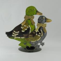 Bougeoir canard duo métal