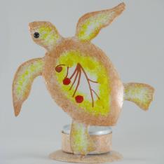 Bougeoir tortue métal