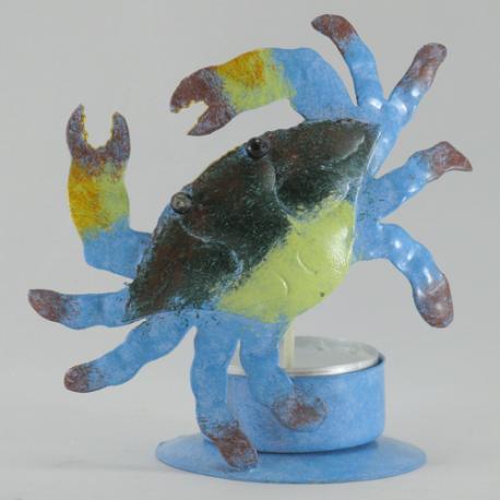 Bougeoir crabe métal