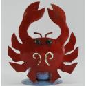 Bougeoir crabe rouge métal
