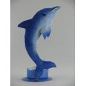 Bougeoir dauphin métal