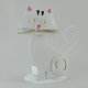 Bougeoir chat métal