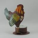Bougeoir poule métal
