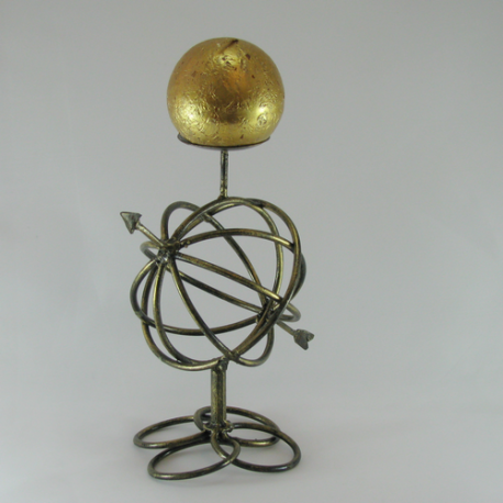 Bougeoir sphère métal