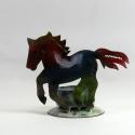Bougeoir cheval métal