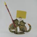 Porte crayon et photo 2 chatons métal