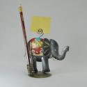Porte crayon et photo éléphant métal