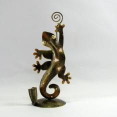 Porte crayon et photo salamandre métal