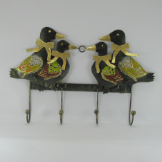 Porte clés canards métal