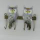 Porte clés 2 hiboux métal