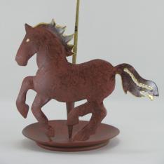 Porte-encens cheval métal