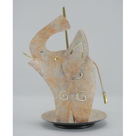 Porte-encens éléphanteau métal