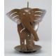 Porte-encens éléphant brun métal