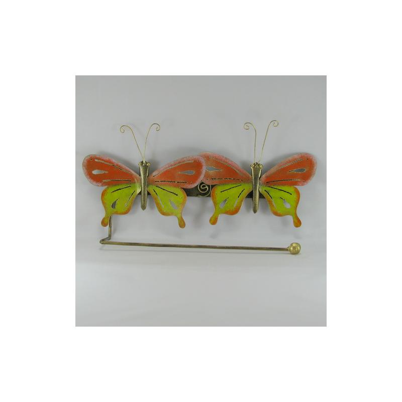 porte papier mural 2 papillons m tal. Black Bedroom Furniture Sets. Home Design Ideas