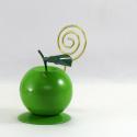 Porte-photo pomme artisanat métal
