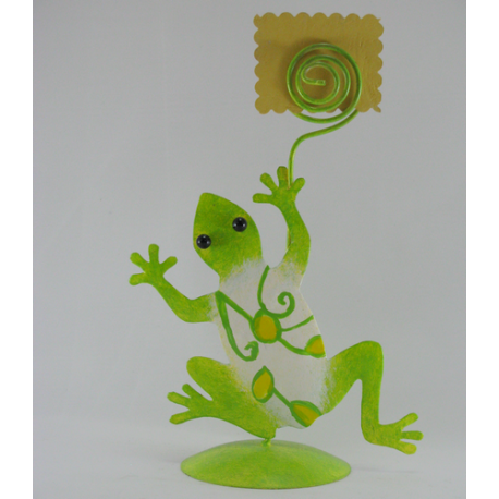 Porte-photo grenouille métal fait-main