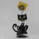 Porte-photo chat noir artisanat métal