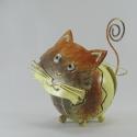 Porte-photo petit chat artisanat métal