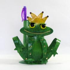 Pot crayon grenouille métal