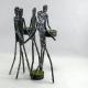 Bougeoir statuettes amitié métal