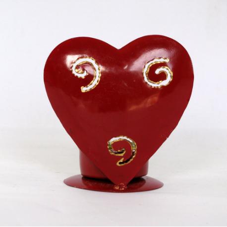 Bougeoir coeur métal